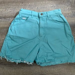 Vintage High-Waisted Lee Denim Shorts